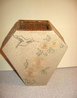Art Deco Hummingbird Vase