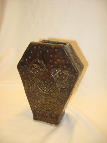 Art Deco Rooster Vase