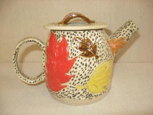Fall Leaf Teapot