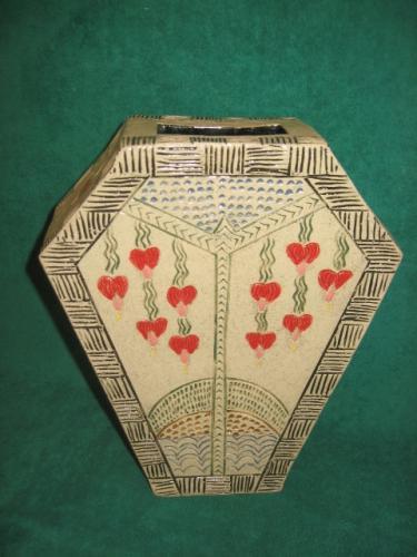 Art Deco Bleeding Heart Vase