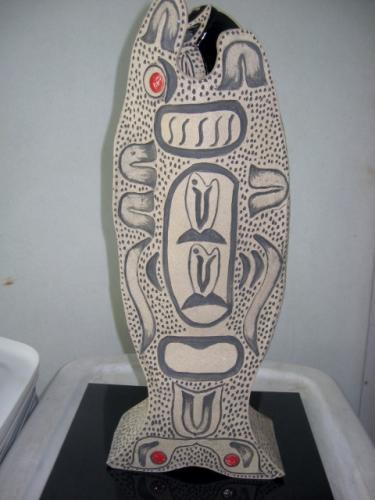 Salmon Devotion Vase