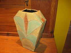 Yellow Art Deco Vase