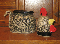 Rooster Tea Caddy